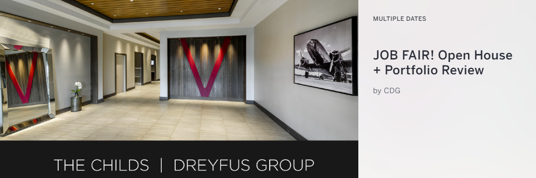 Interior Architecture Firm The Childs Dreyfus Group Will Host Weekly Portfolio Reviews For Junior And Senior Designers